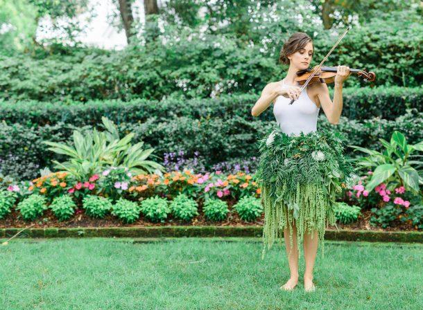 flower skirt violinist