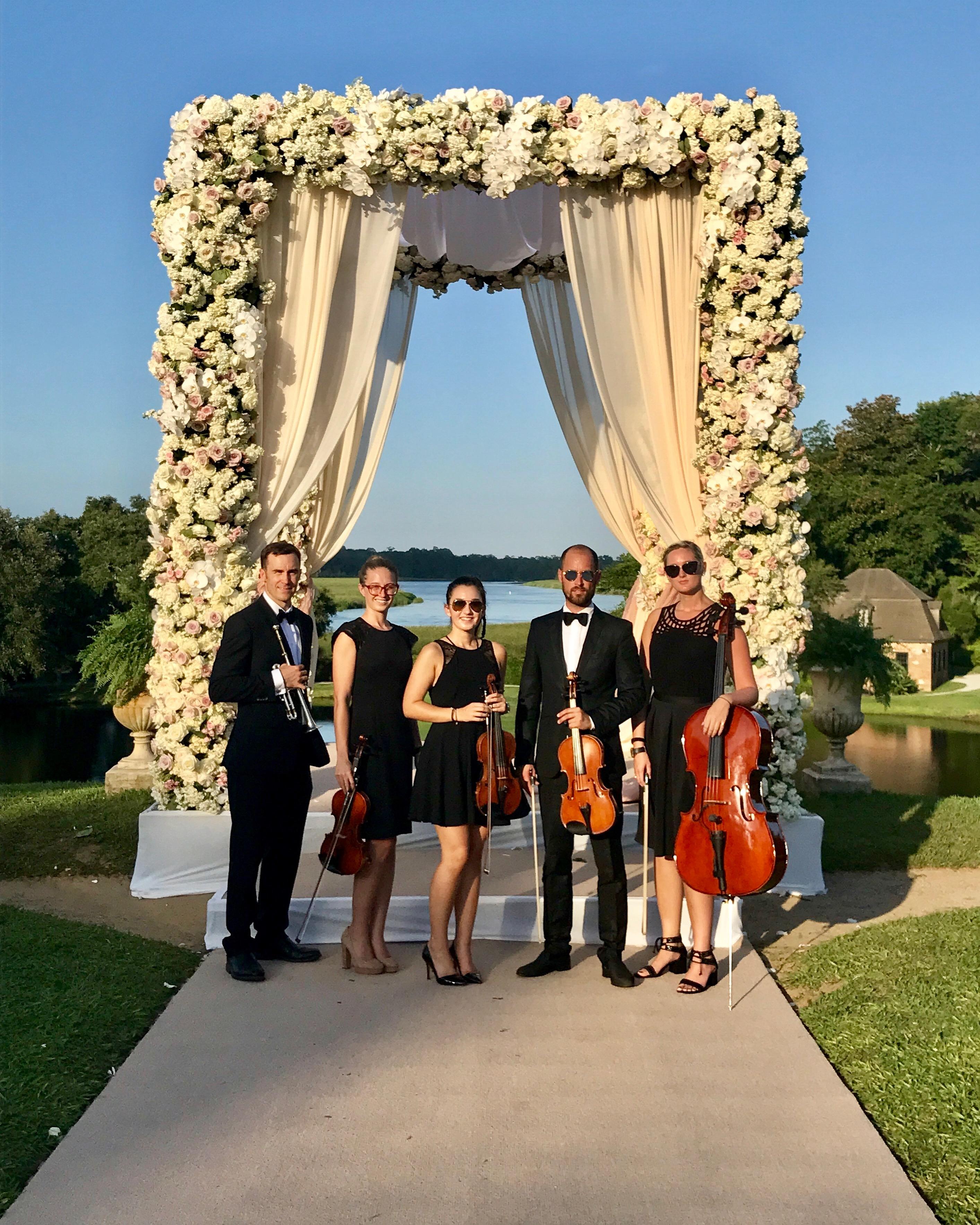 Tara Lipinski Wedding Ceremony Musicians Charleston Virtuosi