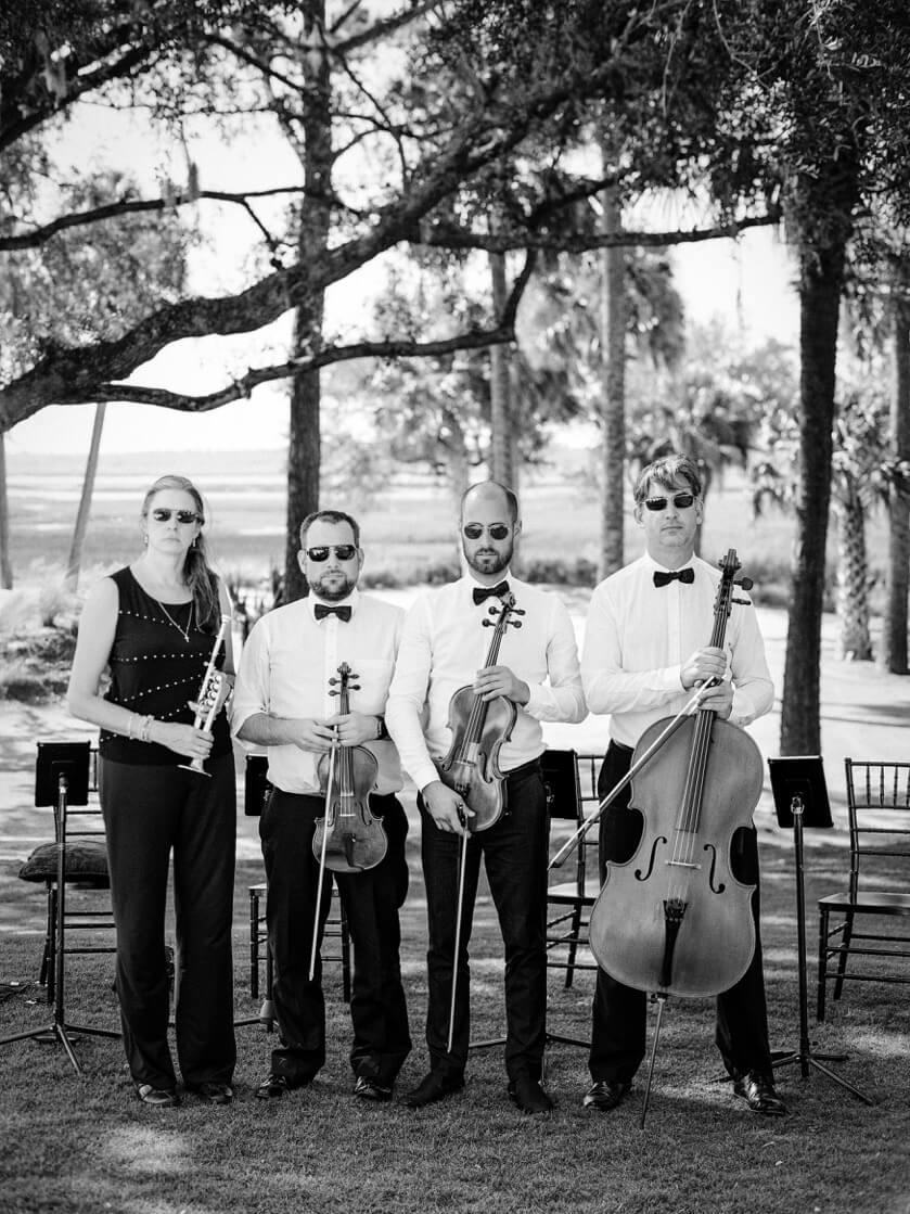 string trio and trumpet