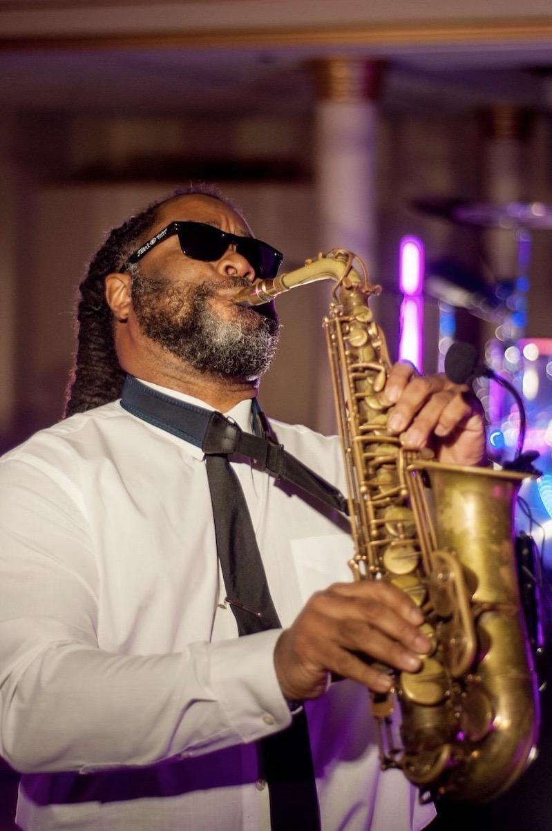 Saxophone player Charleston wedding band Charleston Virtuosi