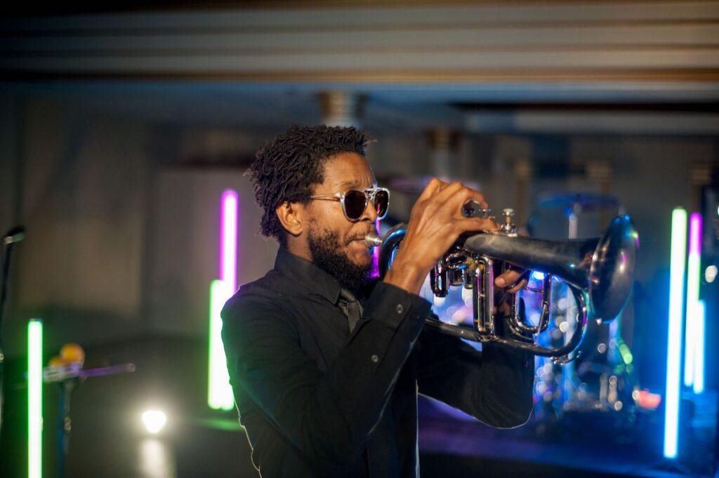 Trumpet Player wedding band in charleston, sc
